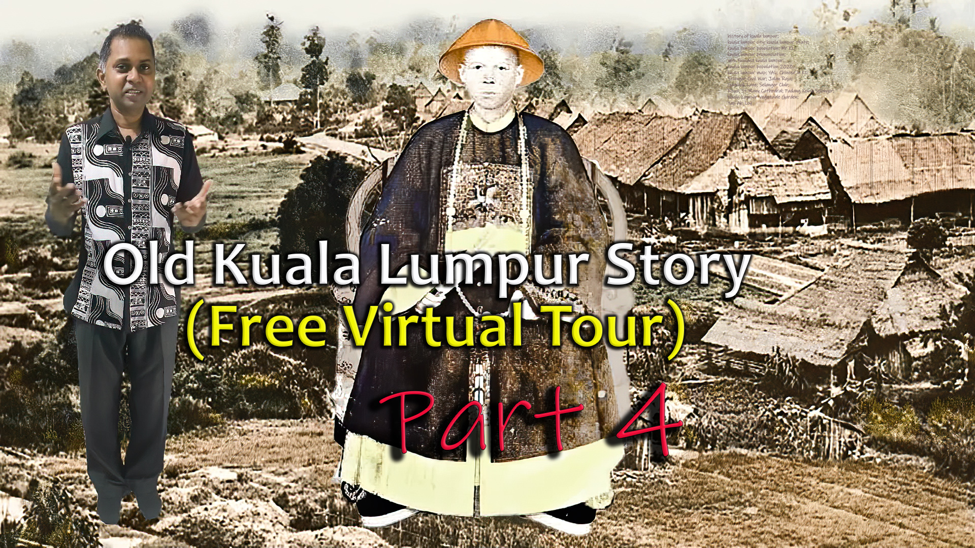 Johnson giving a Free virtual tour on Kuala Lumpur history. The photo shows how kuala lumpur ground was before the building of the famous Sultan Abdul Samad building and many historical ground. This is very rare sight to experience. Don't miss to watch part 1,2,3 or visit for free Museum Virtual tour at http://virtualtourcreator.my/2021/01/19/national-museum-of-malaysia-free-virtual-tour/