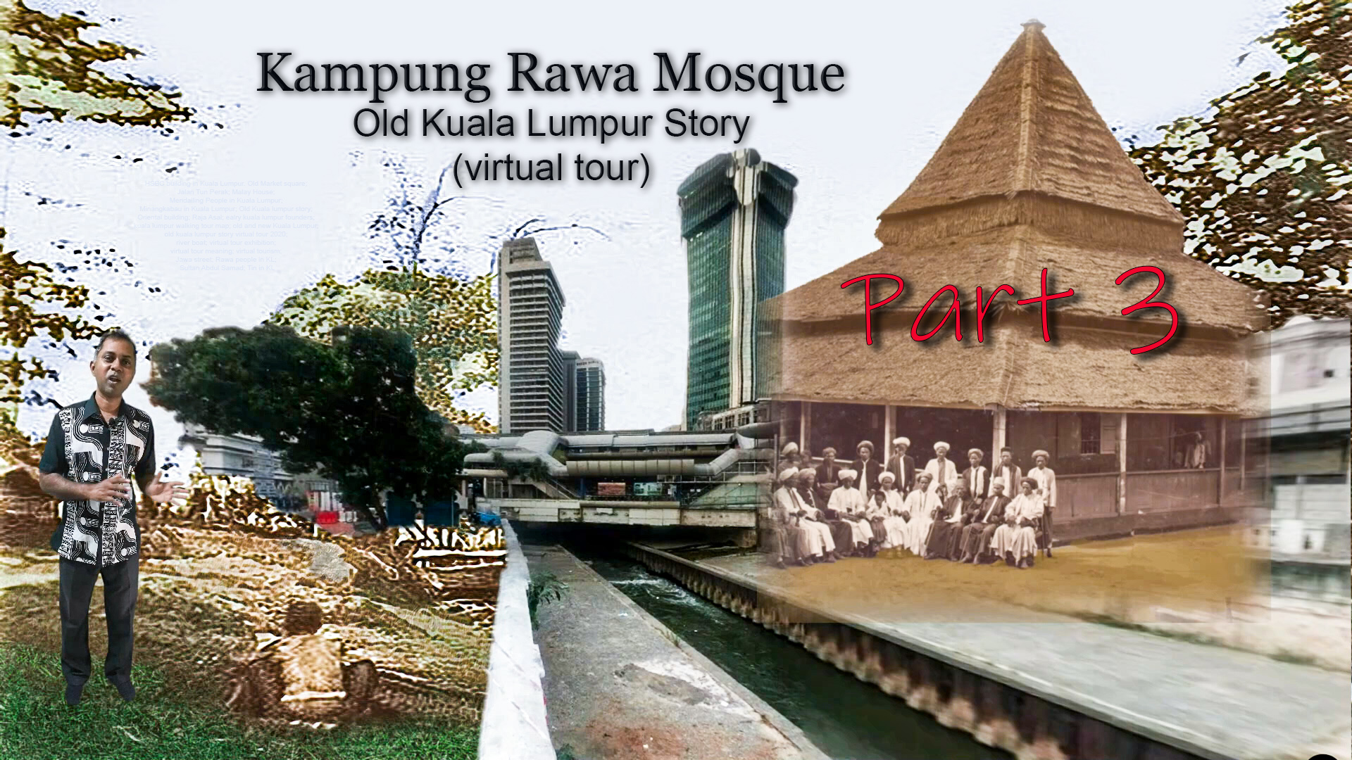 The beginning of Kuala Lumpur in 1857, Klang river flowing on your right side, in the video. I'm bringing you virtually to the old Kuala Lumpur to life, by telling what happened then and now as the visual changes according to current development.